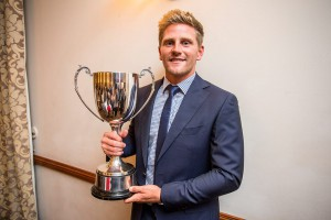 Timm van der Gugten with his Balconiers' Player of the Year trophy