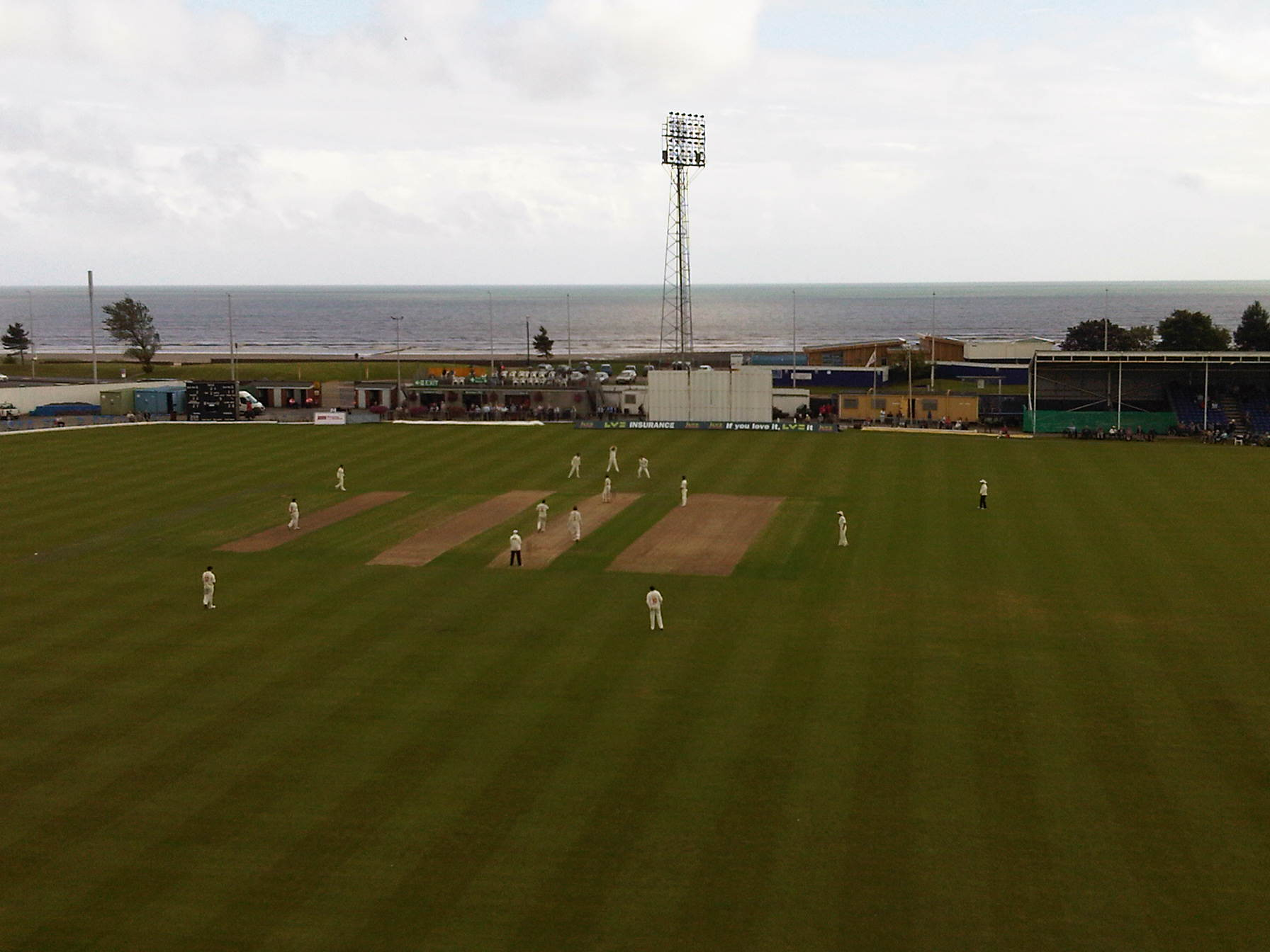 A view from the hospitality boxes during the 2012 Swansea and West Wales Cricket Festival